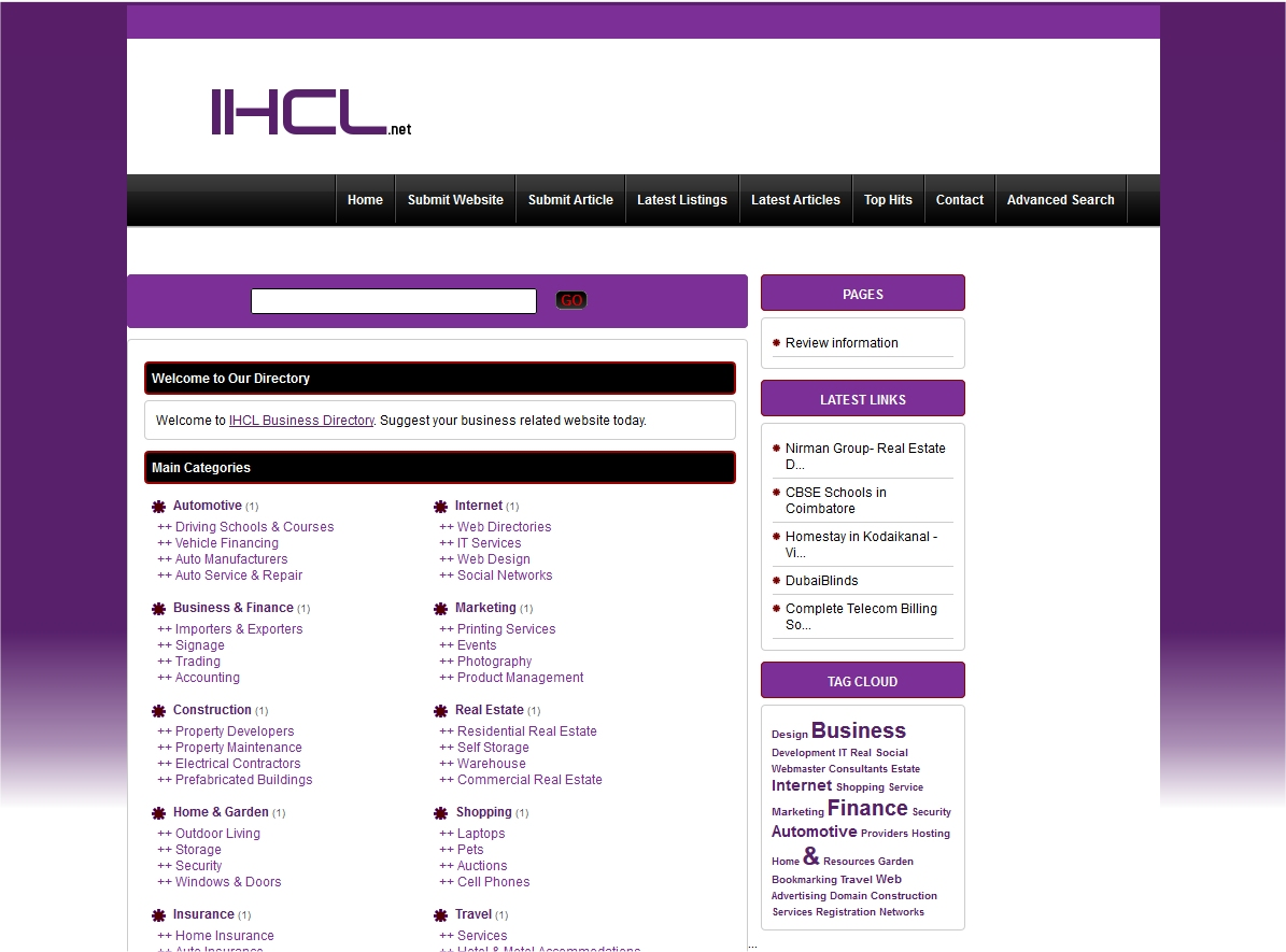 Add You Website To IHCL.net Directory