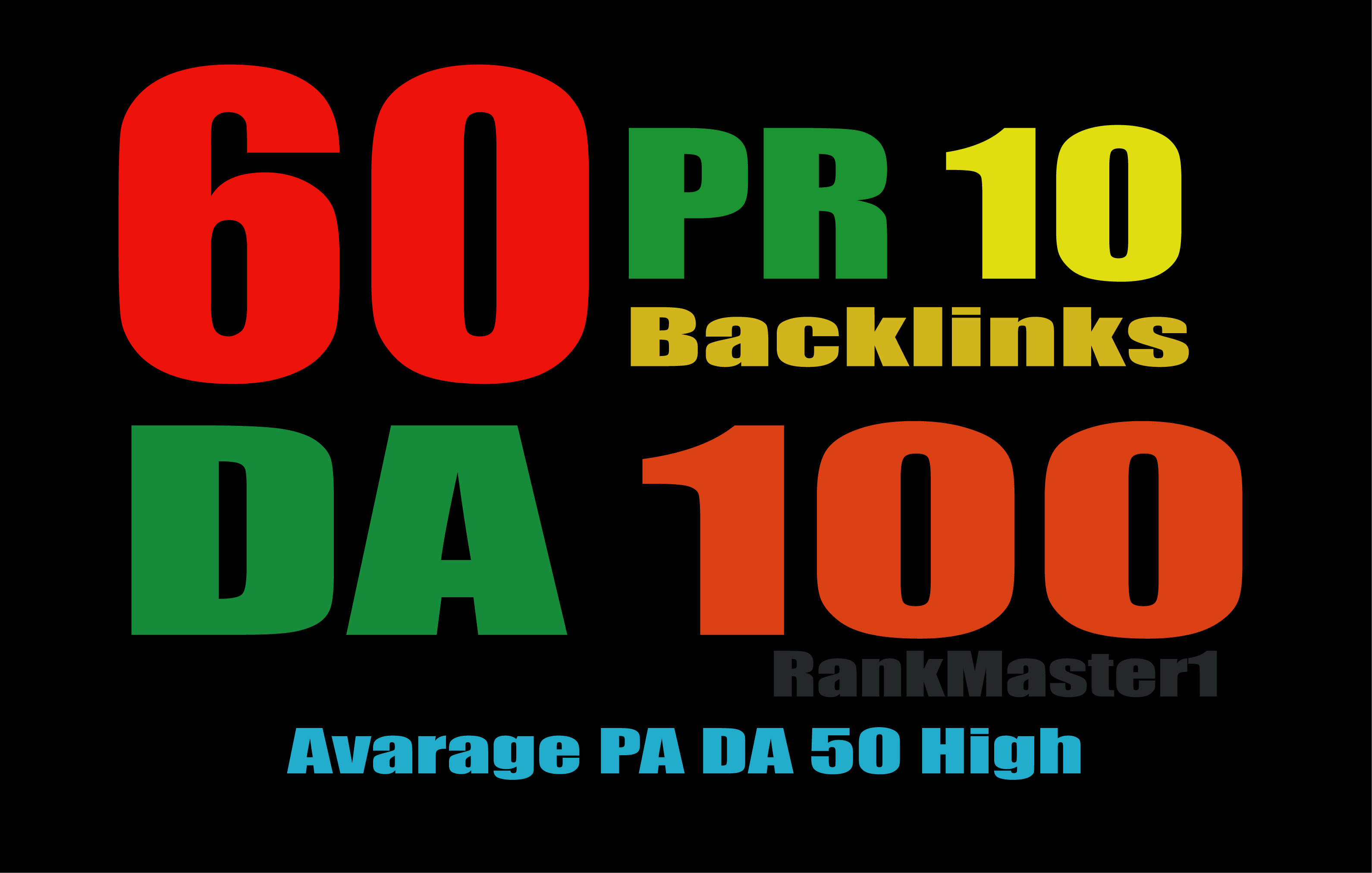 Create  Manually 60 High Domain Authority Backlinks Service For You
