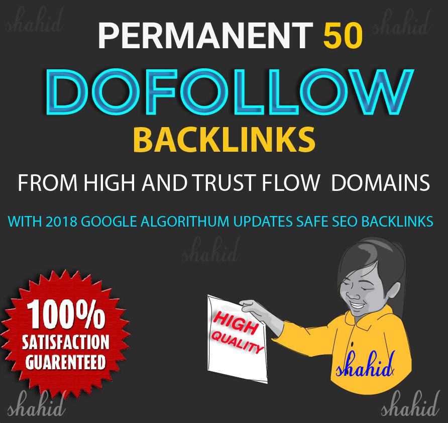 Build Manually 50 SEO Link Building,Backlinks