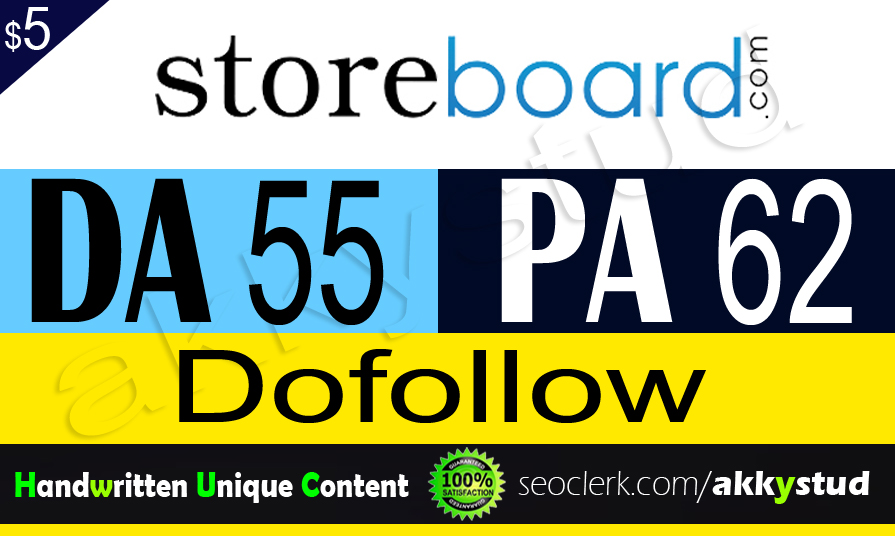 "write and publish unique guest post on ""Storeboard"" DA-55"