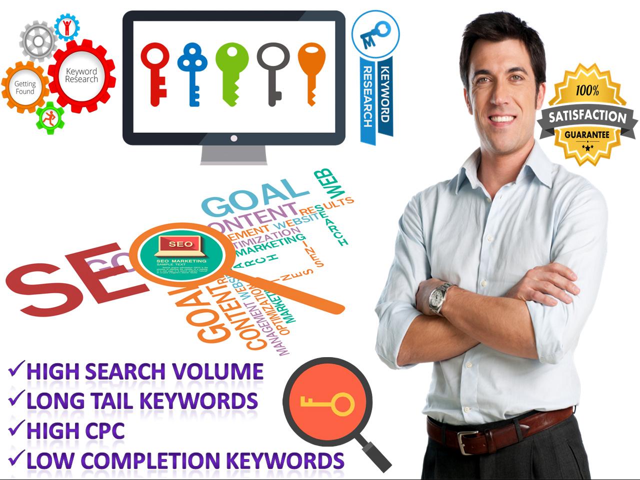 Arrange SEO Keyword Research & get 100 plus Keyword