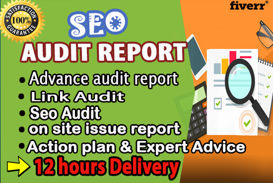professionally Review Your Website And Give An SEO Audit Report with solution