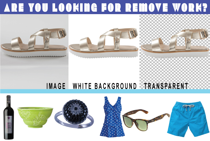 Remove Background Cut out Photos put Background White or Transparent
