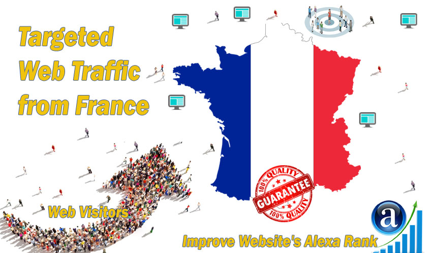 Send 25.000 web visitors from France in 30 days