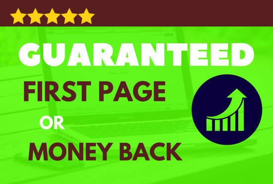 Guarantee First Page Ranking High Pr SEO Backlinks