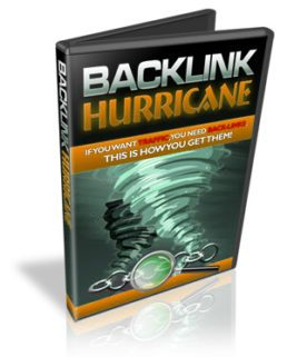 Backlink Hurricane generate tons of fresh,  inbound links