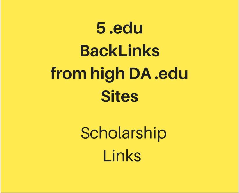 Get 5 .Edu Scholarship Links