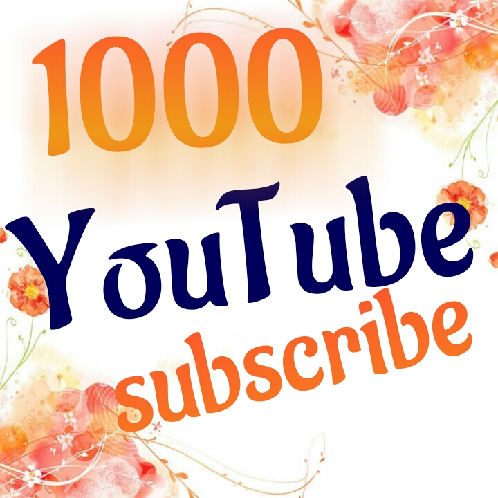 1000 YouTube subscribe Nondrop  very fast Or 2000 YouTube  like  supper fast