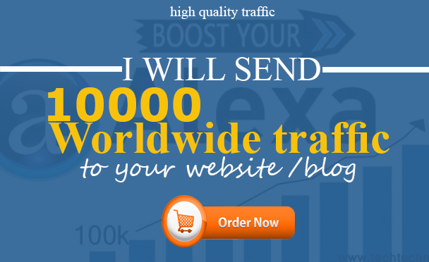 10000 Worldwide Traffic to your website /blog