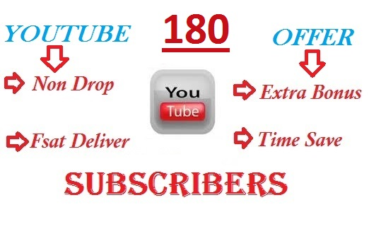 Buy 180+ YouTube Channel Subscribers