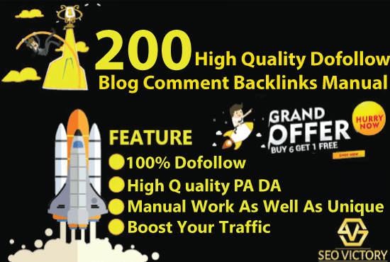 Provide 200  Dofollow Blog Comments Backlinks High Quality
