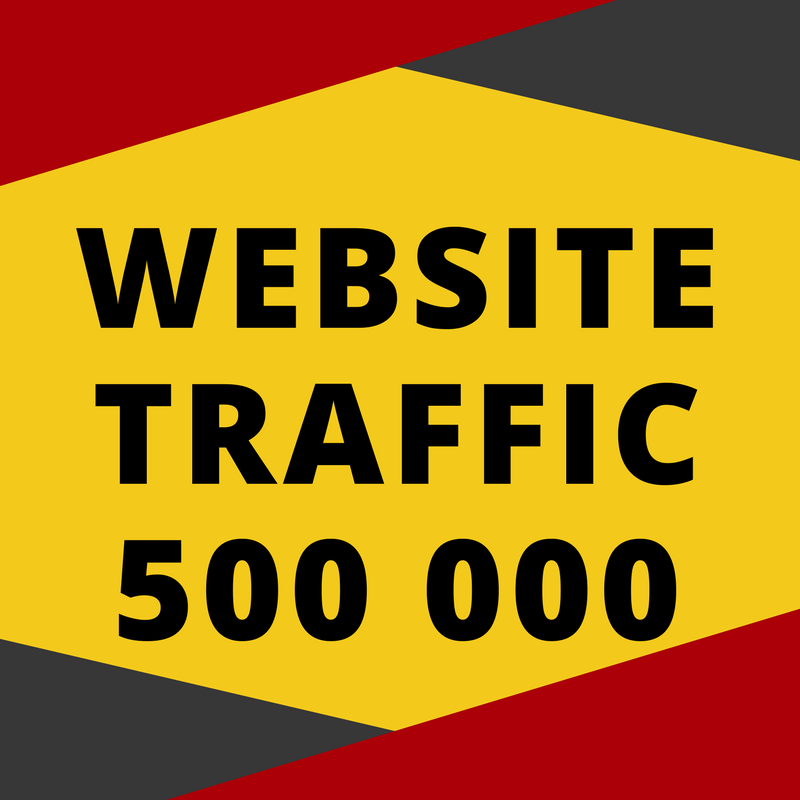 Real 500,000 + Web Traffic WORLDWIDE from