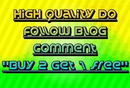Provide 45 High Quality DoFOLLOW Blog Comment low obl