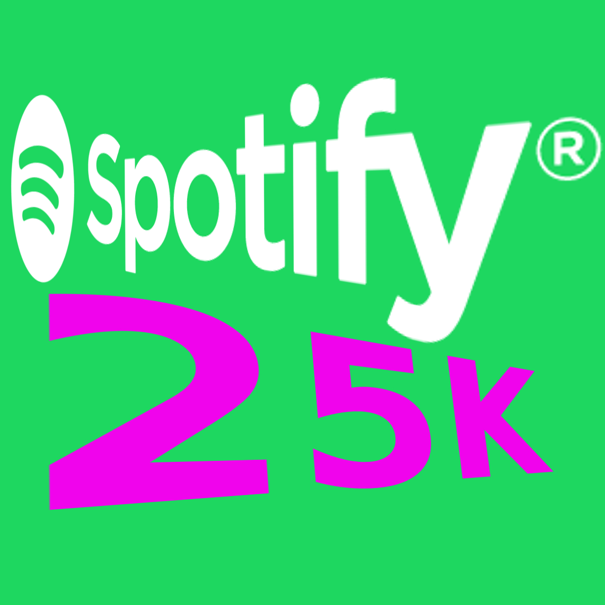 25K SPOTIFY Plays Fast and Reliable