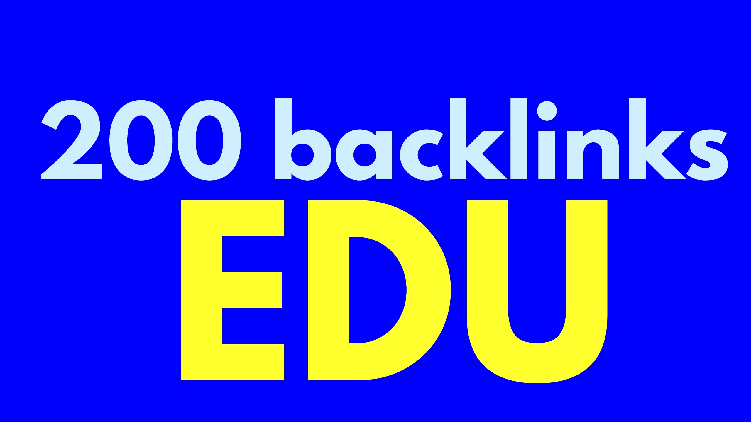 200 backlinks EDU for your site