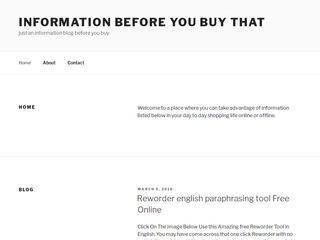 An Information Blog