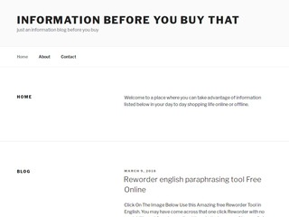An Information Blog Sponsored Blog Review