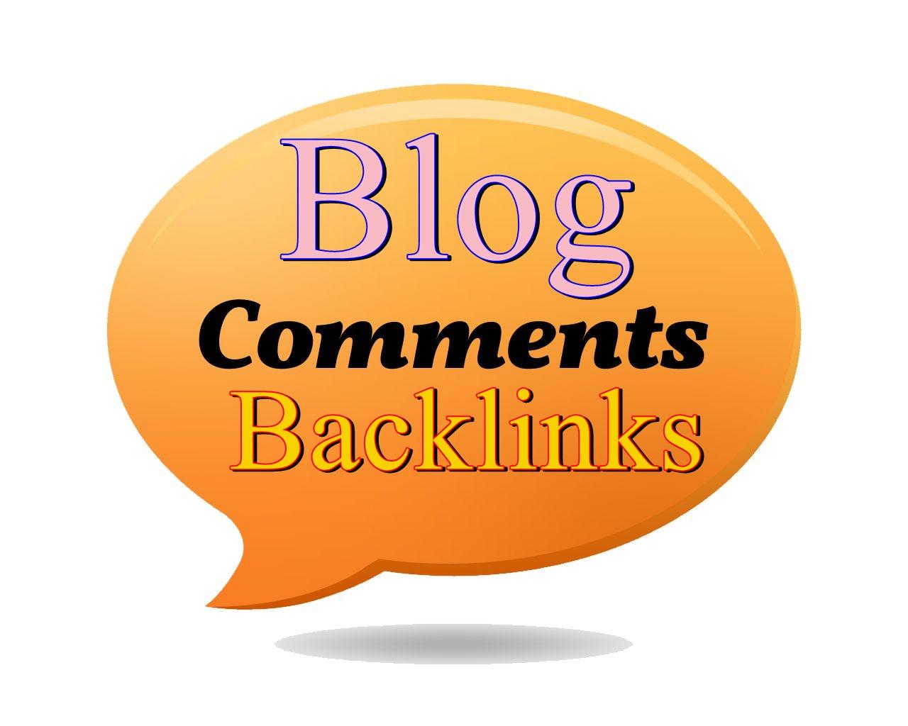 High Quality Do-Follow Blog comment backlinks