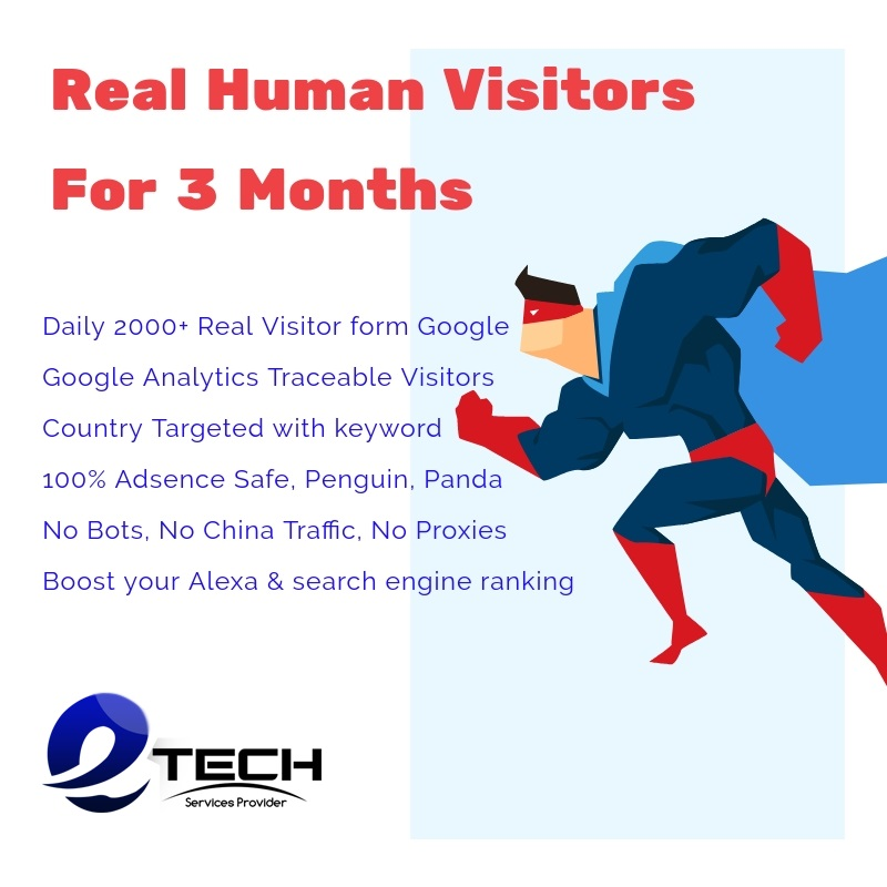 3 Months Unlimited Human web Traffic for Your Website