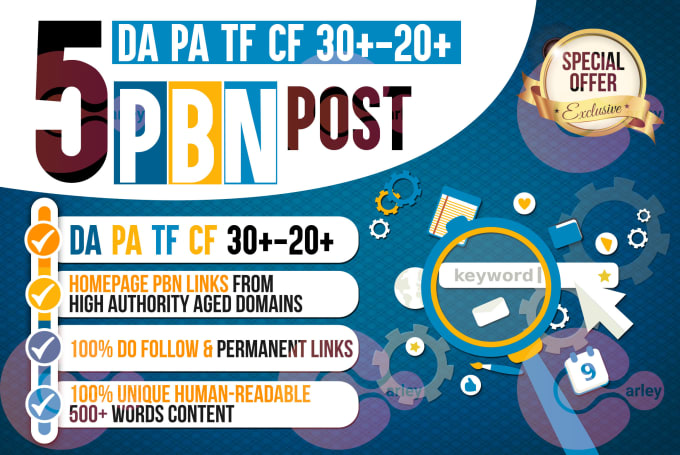 5 High TF CF DA PA Homepage PBN Backlinks Permanent