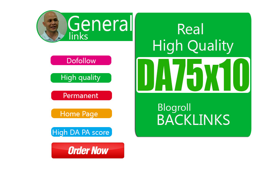 give your backlink DA75x10 site blogroll dofollow