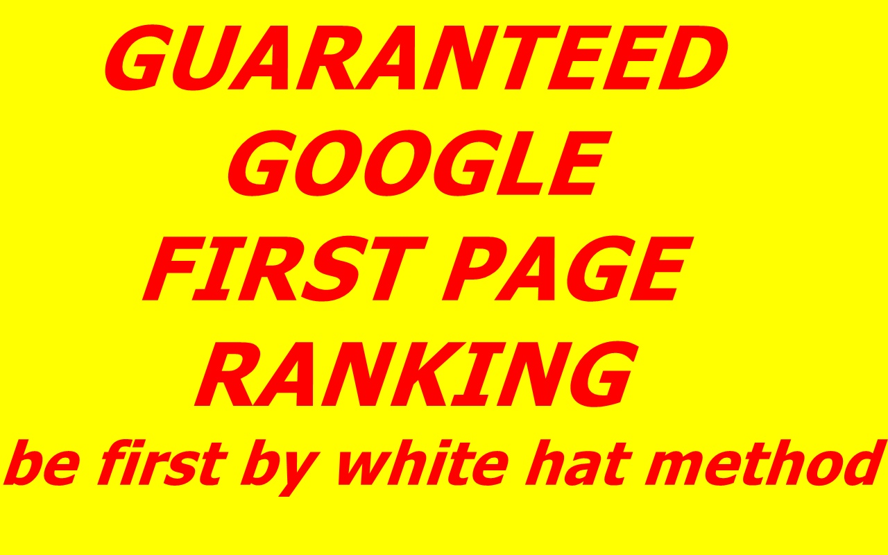 Guaranteed Google first Page Ranking with one keyword
