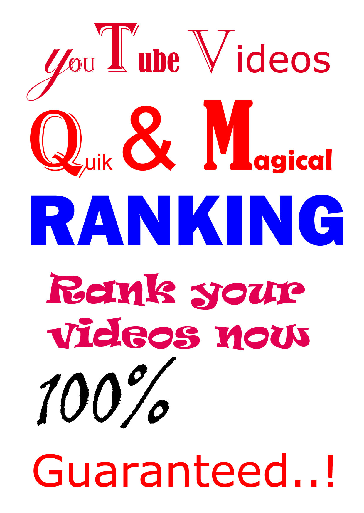QICK and MAGICAL youtube video RANKING