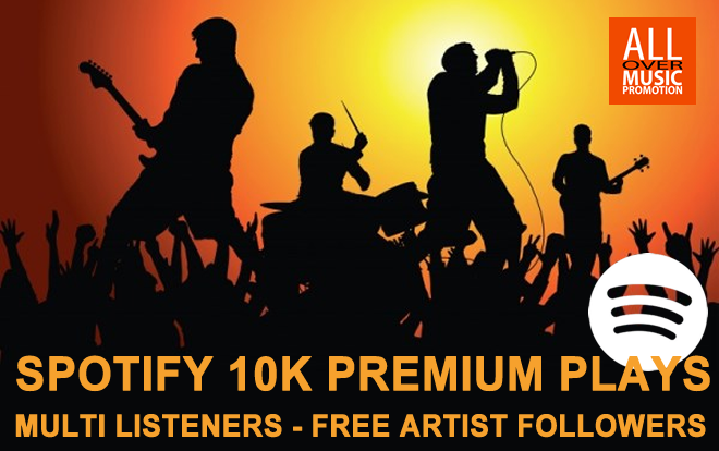 SPOTIFY 10K PREMIUM PLAYS MULTI LISTENERS + FOLLOWERS