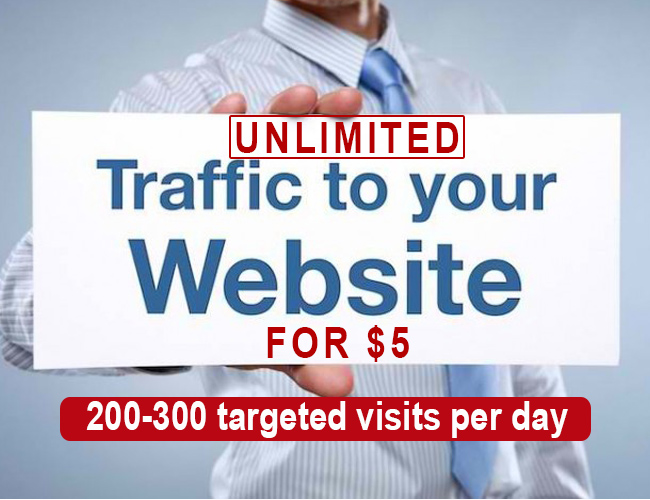 For Just 10 dollar you will get Unlimited USA traffic for 1 Month