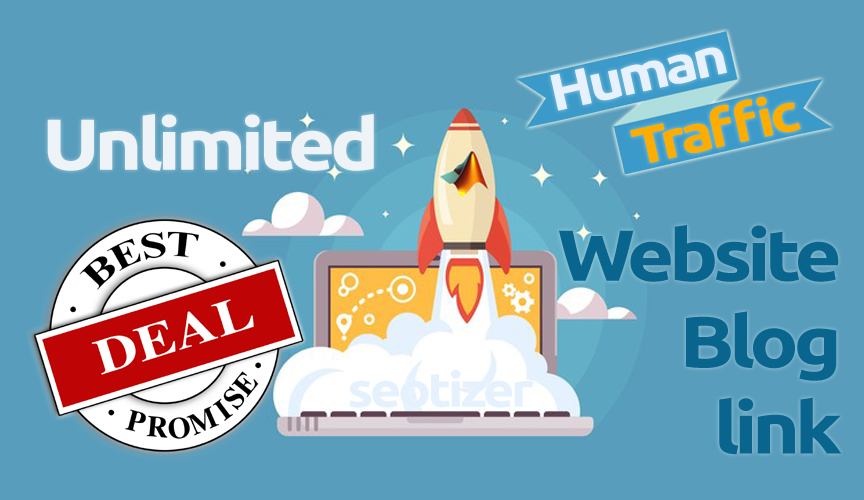 Unlimited  Blog or Website Human TRAFFIC for 30 Day