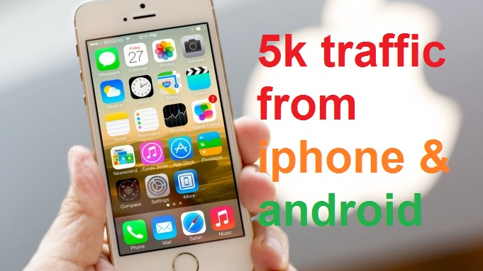 5k true traffic from iphone and android devices exclusive service