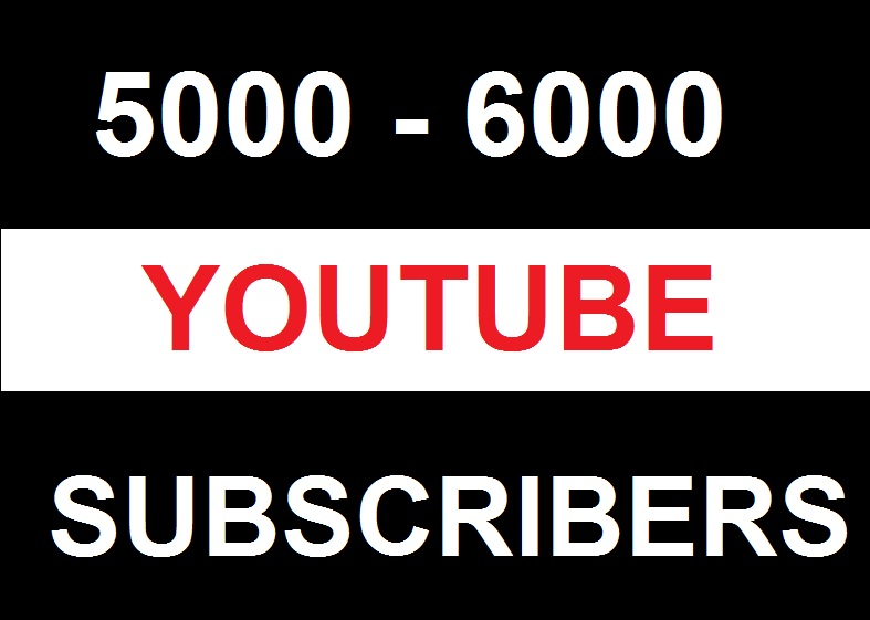 5000+ HQ Youtube Subscribers Non Drop Fast Delivery