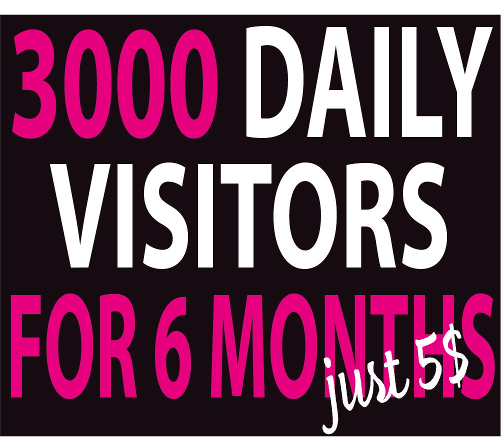 3000+ Daily Visitors to Your website For 6 MONTHS BY Google Twitter Youtube vie ws and many more