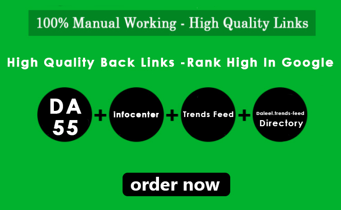 3 HQ DoFollow Backlinks DA:68 & 67