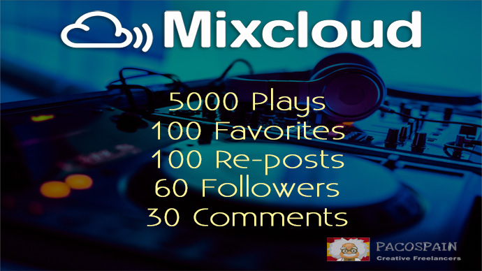MIXCLOUD PROMOTION PACKAGE