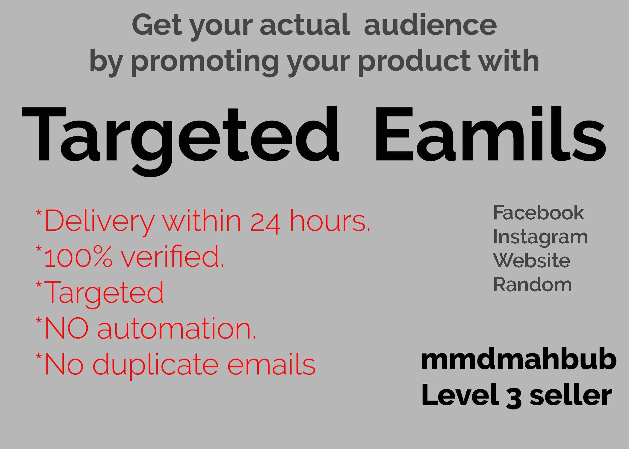 2,000 targeted emails for your product