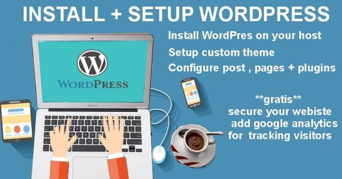 Install Wordpress on your server and add a PAID theme on it FREE with all necessary plugins for 2