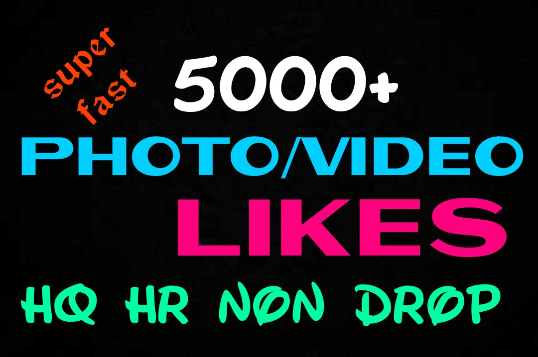 Add 5000+ Super Fast,HQ,Non Drop Social Post or Photo Promotion