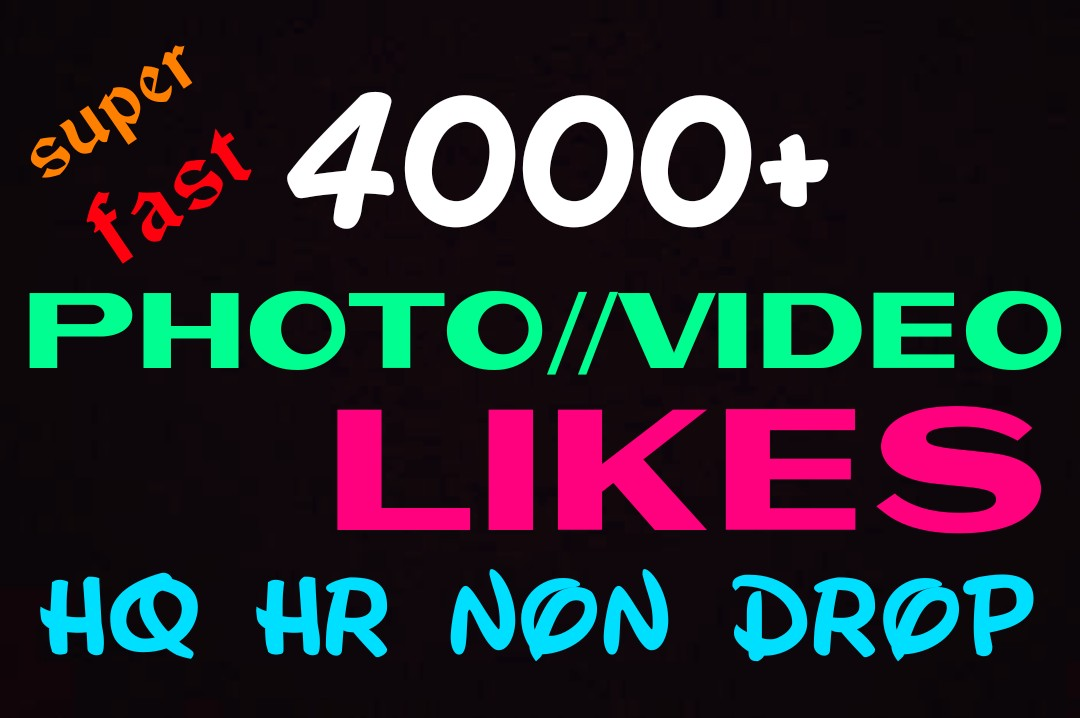 Add 4000+ Super Fast,HQ,Non Drop Social Post or Photo Promotion