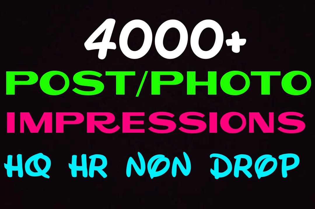 Deliver 4000+HQ, Non Drop video impressions instantl...