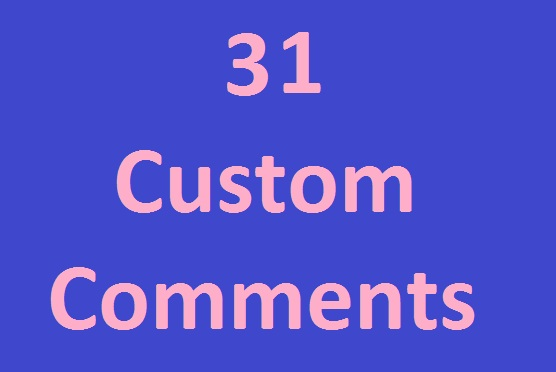 Supper fast 31 YouTube custom comment add in time