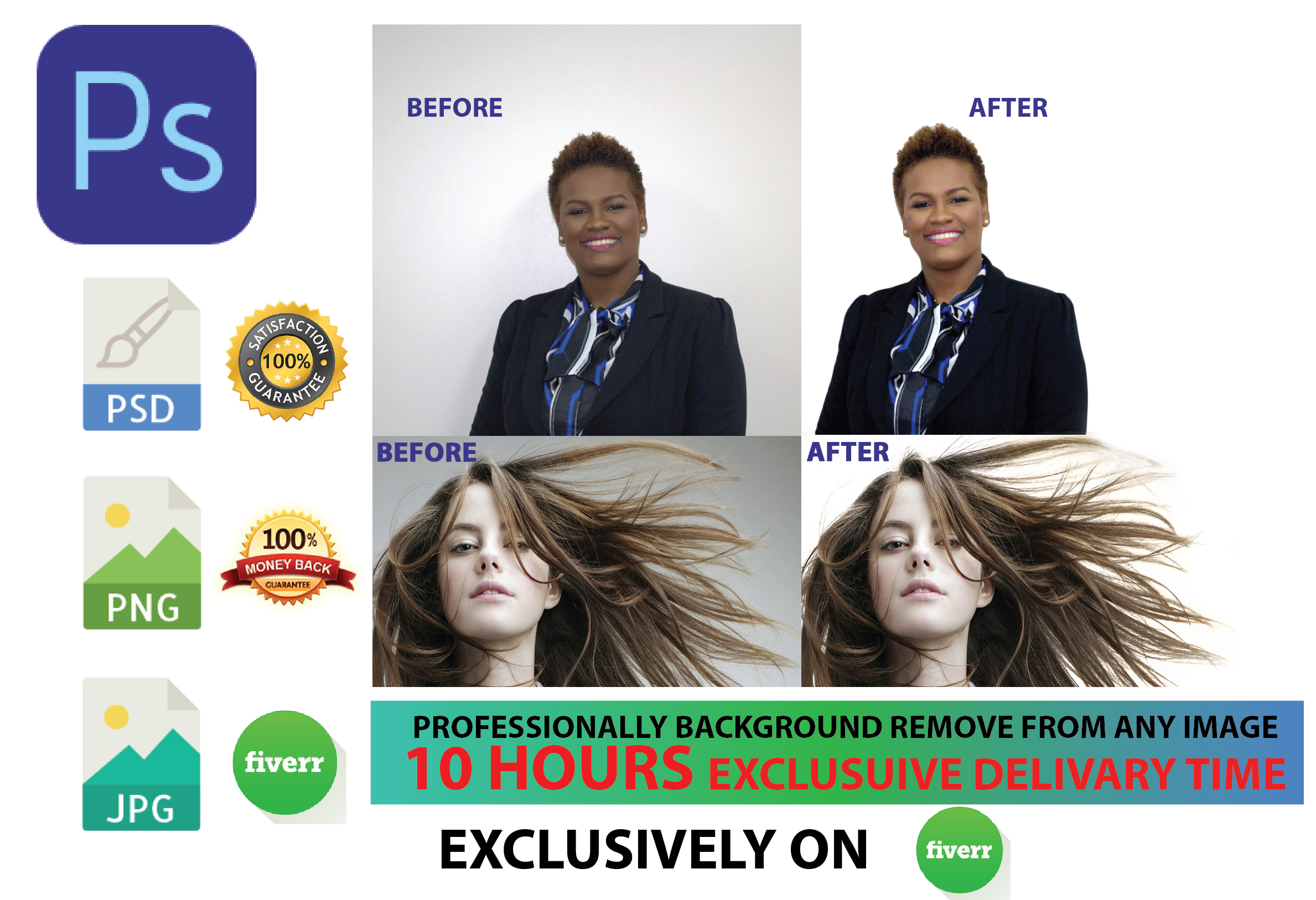 Remove Background 15 Images Professionally Within 10 Hours