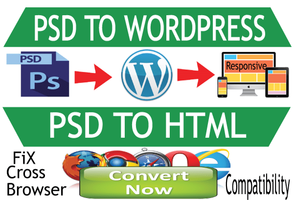 I will convert PSD To Wordpress or HTML website