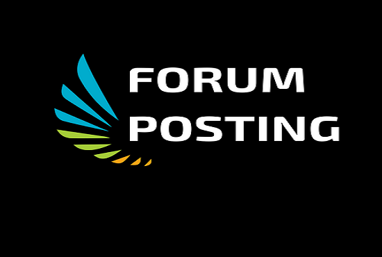Create quality 50 Forum Posting