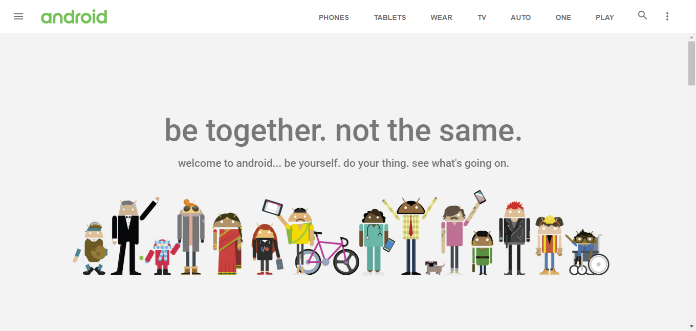 Get Html Android base theme with responsive Theme