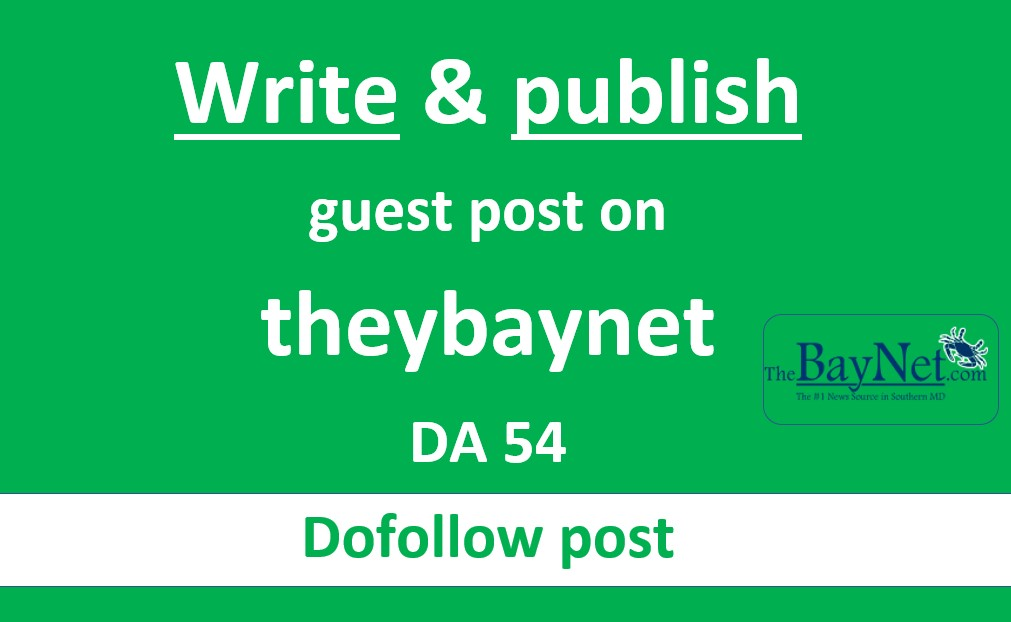 Write and publish guest post on thebaynet DA54 PA62