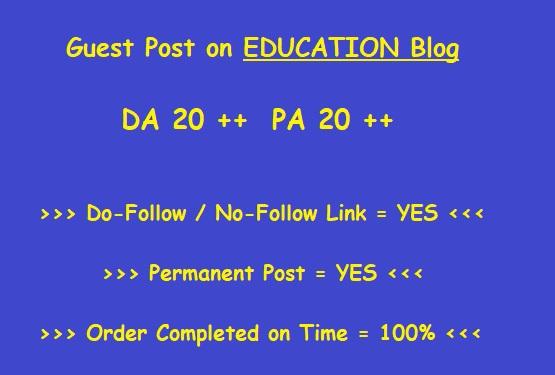 Guest Post on DA 40 plus Education blog (writing + posting)