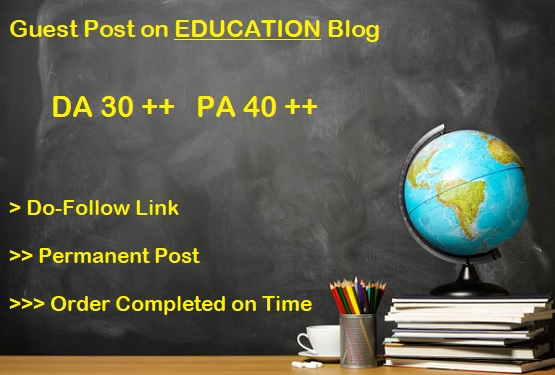 Guest Post on DA 30 plus Education blog (writing + posting)
