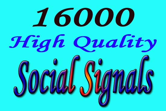 best and powerful SEO 16000 social signals