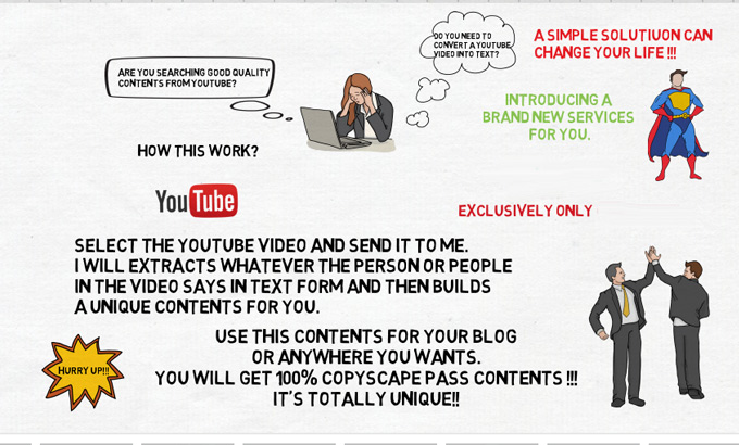 extract text from youtube videos